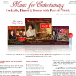Music For Entertaining - CDs for Cocktails, Dinner & Dessert